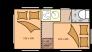 caravan-low budget-tekening slaapstand