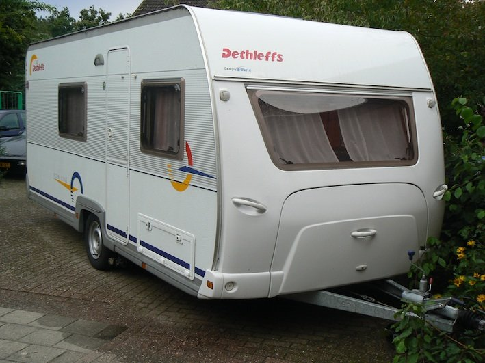 Hobby Caravan Stapelbed Vast Bed.Dethleffs 490 Tk Caravans Caravanhuren Nu