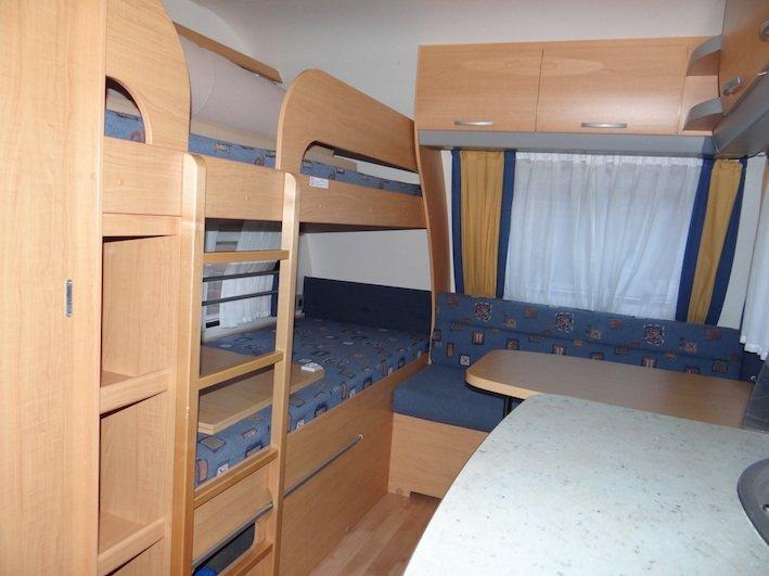 Knaus Caravan Met Stapelbed.Knaus 500 Tk